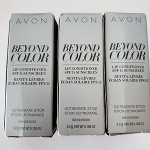 3 Avon beyond color lip conditioners new